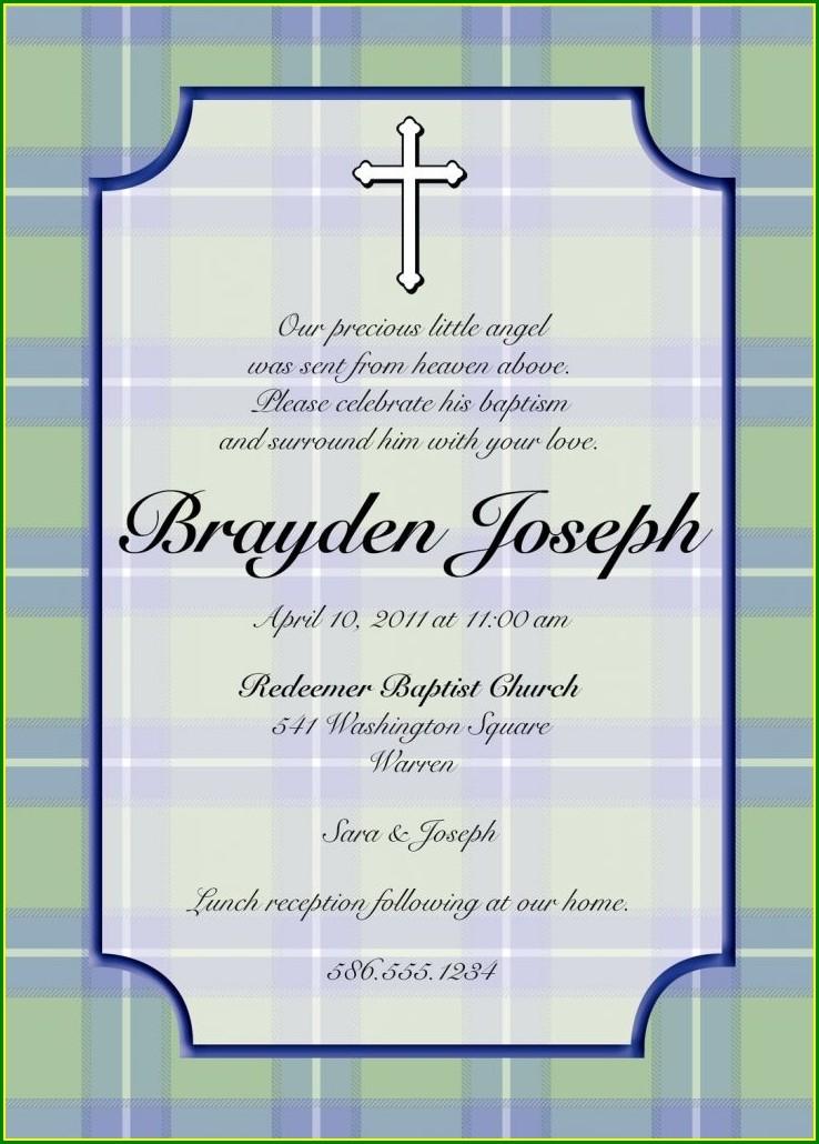 Invitation Wording In Spanish For Baptism