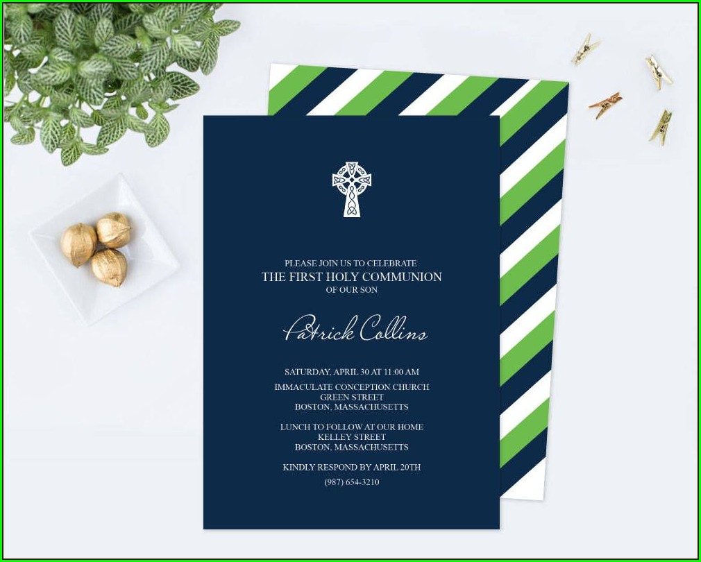 Irish First Holy Communion Invitations
