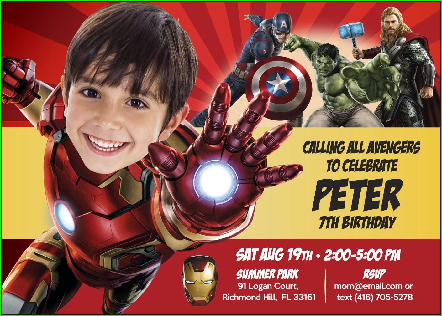 Iron Man Invitation Card Template