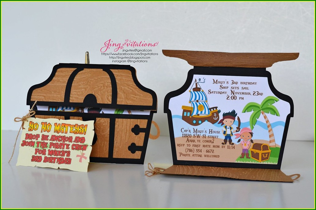 Jake The Pirate Invitations
