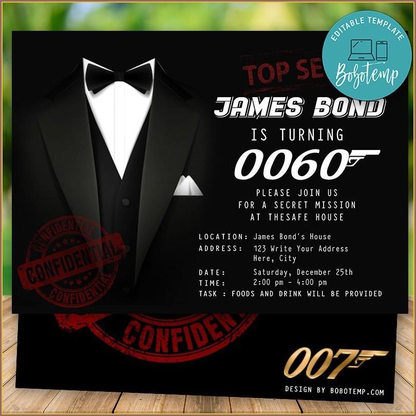 James Bond Invitation Template