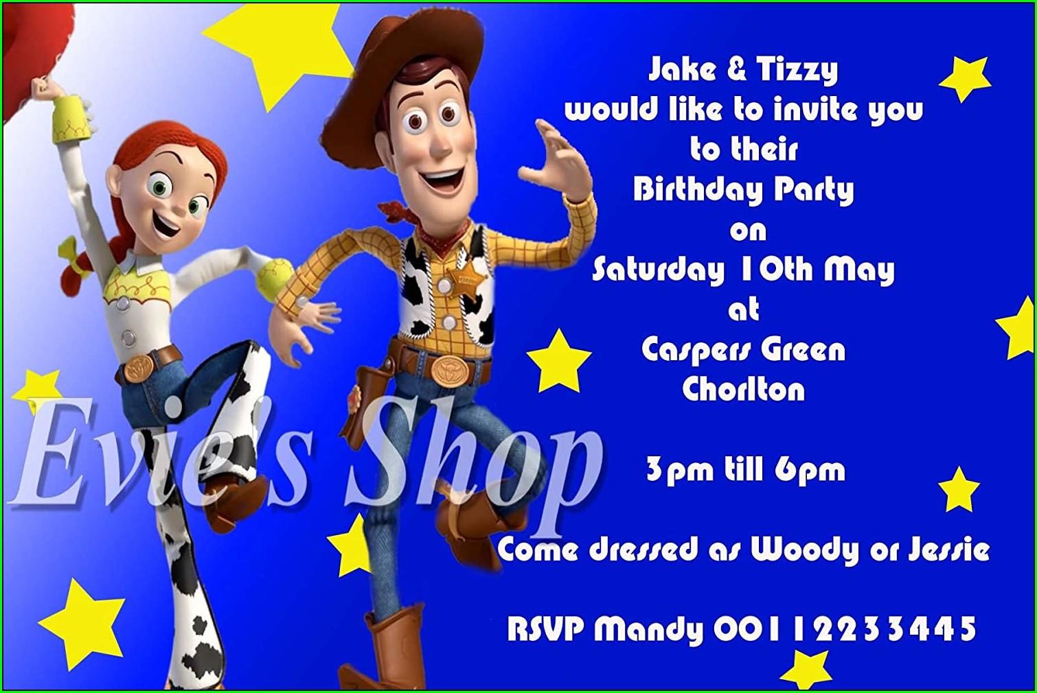 Jessie Toy Story Birthday Invitations