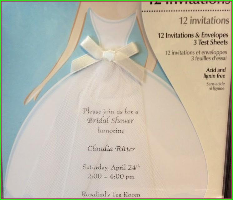 Joann Fabrics Wedding Invitations