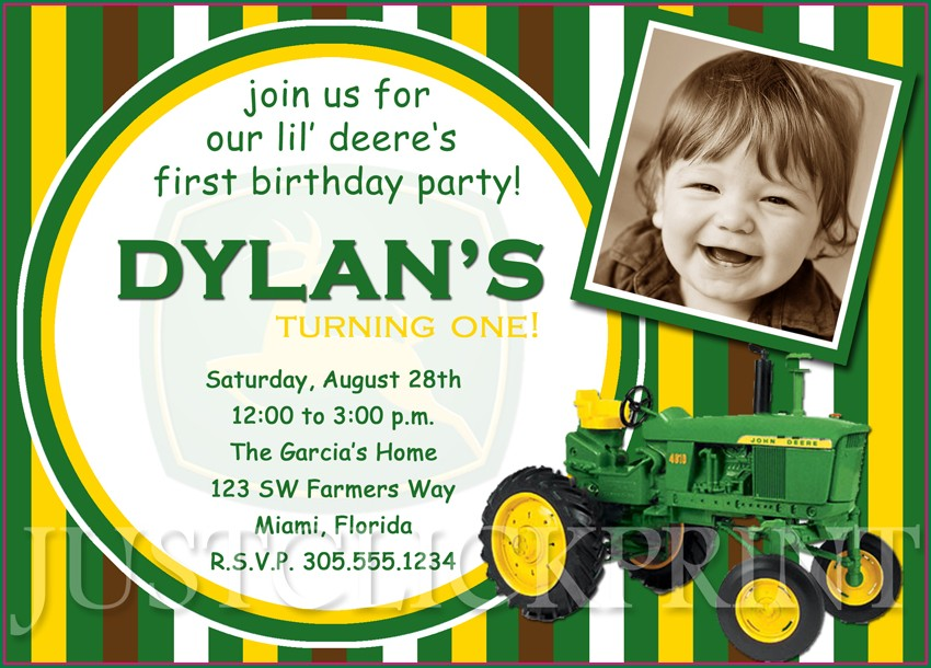 John Deere Invitations Printable