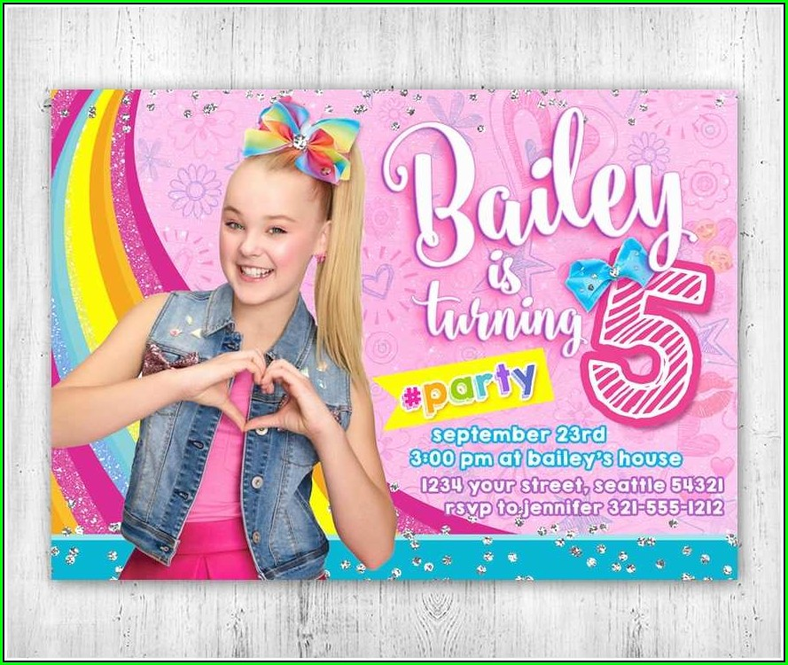 Jojo Siwa Birthday Invitations Digital