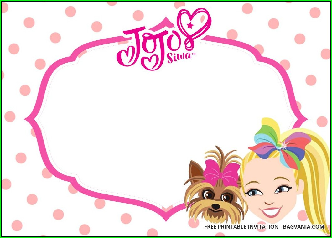 Jojo Siwa Birthday Invitations Free