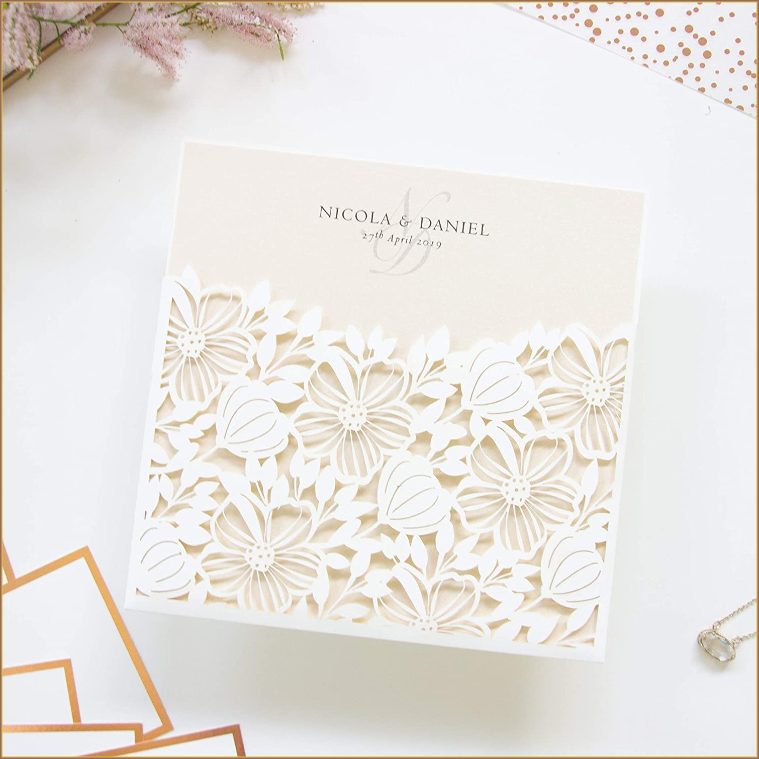 Lace Envelopes Wedding Invitations