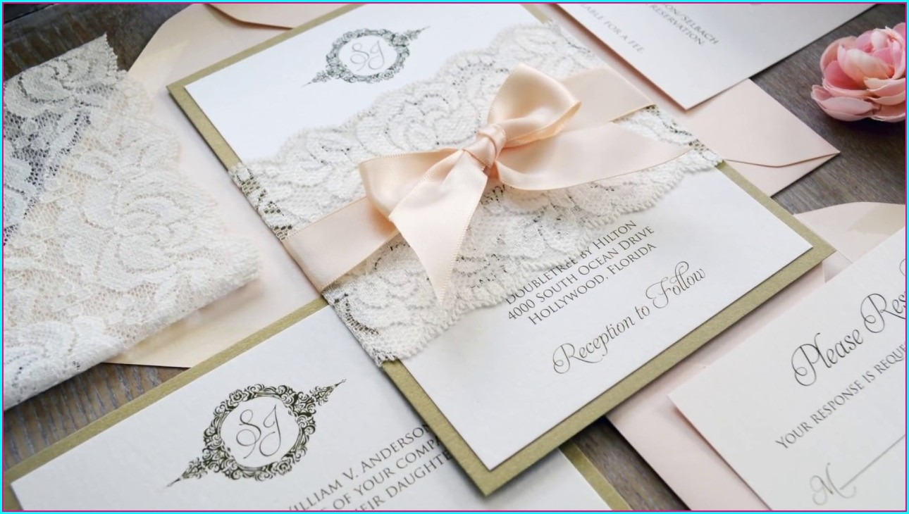 Lace Wedding Invitations Diy