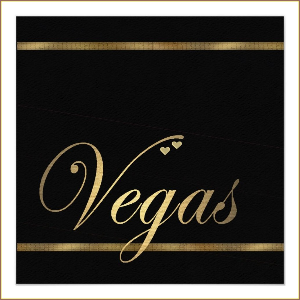 Las Vegas Wedding Invitations Templates