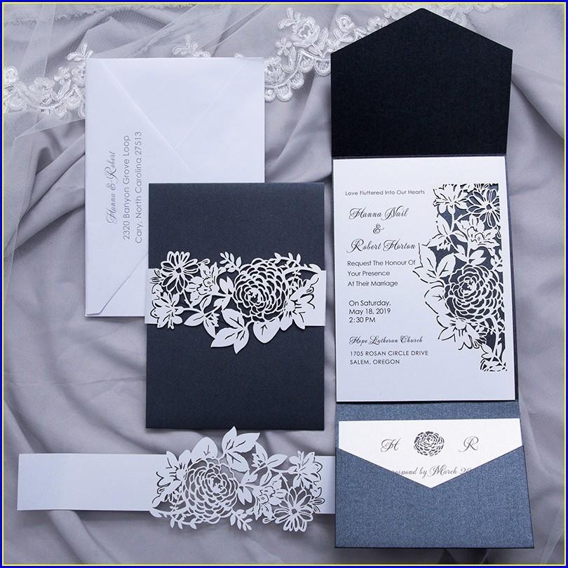 Laser Cut Pocket Wedding Invitations Australia