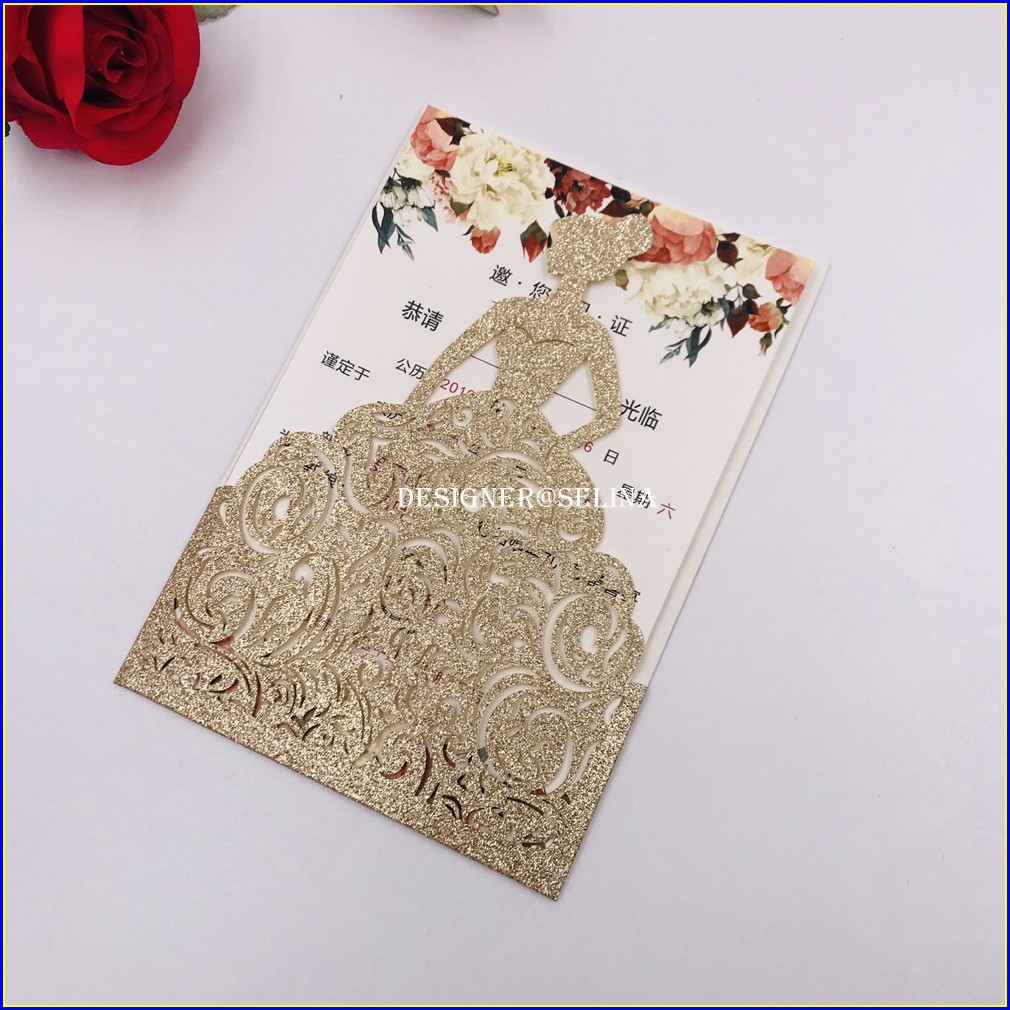 Laser Cut Quinceanera Invitations