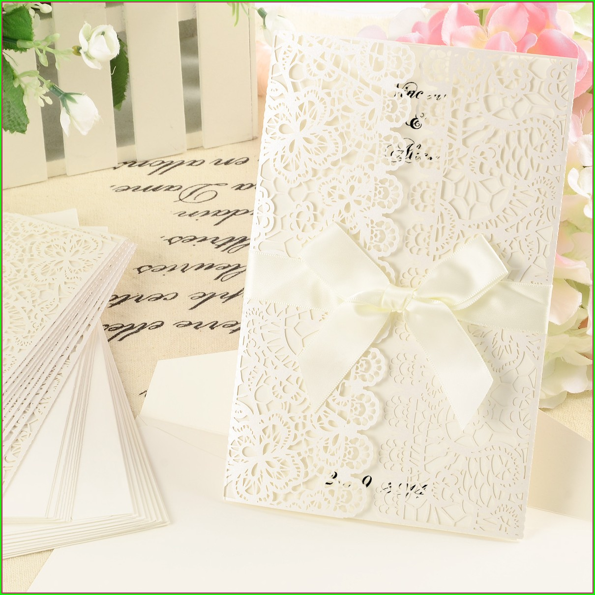 Laser Cut Wedding Invitations Ebay