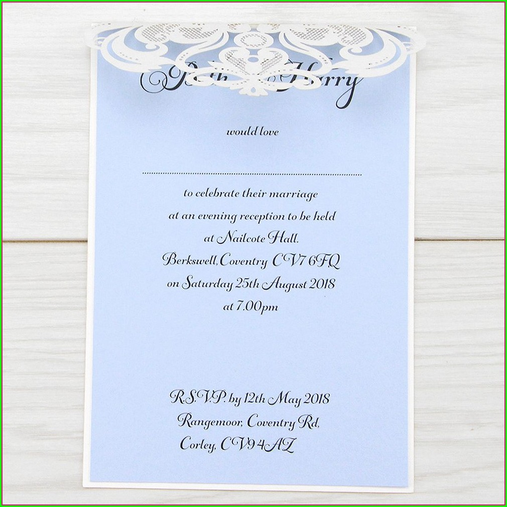 Laser Cut Wedding Invitations Free Samples