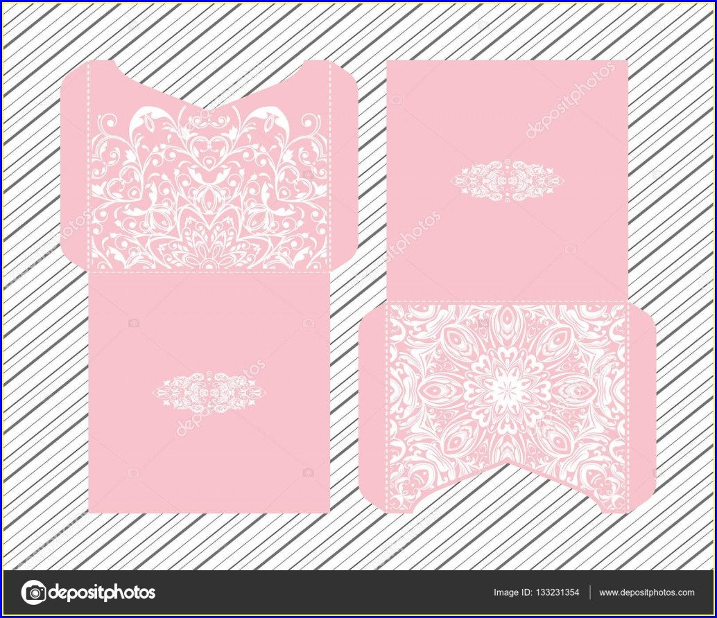 Laser Cut Wedding Invitations Vector