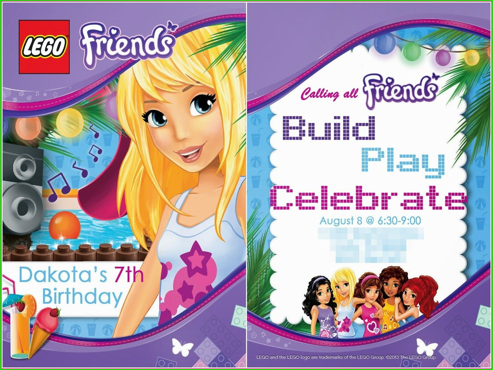 Lego Friends Invitation Template Free Download