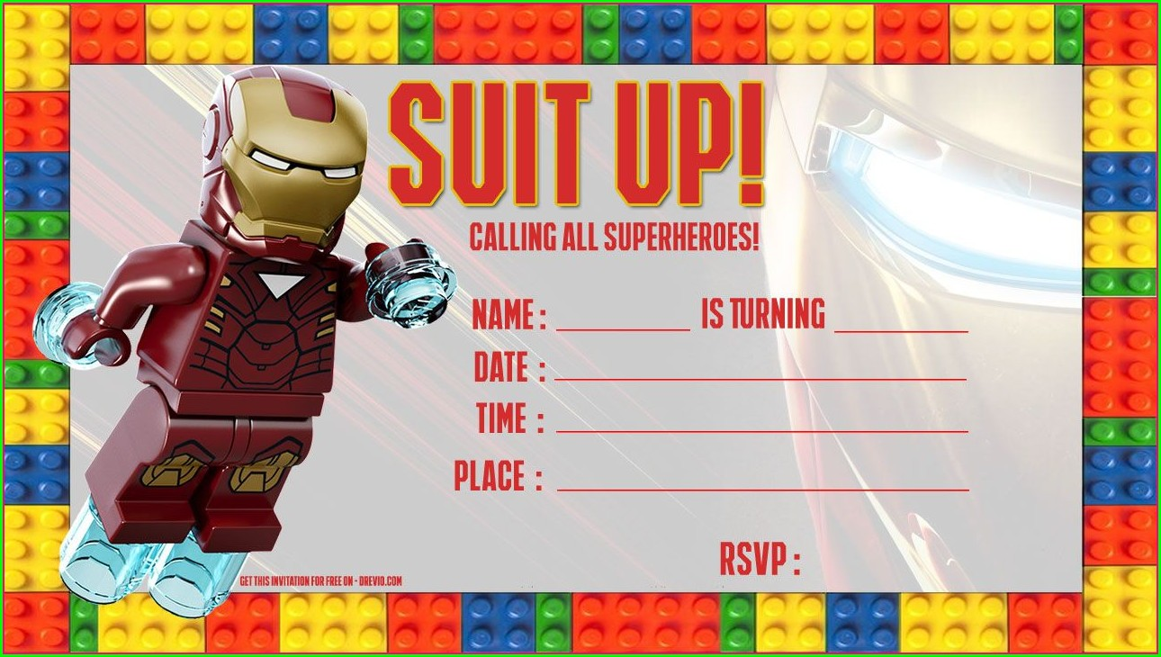 Lego Invitation Template Free Download