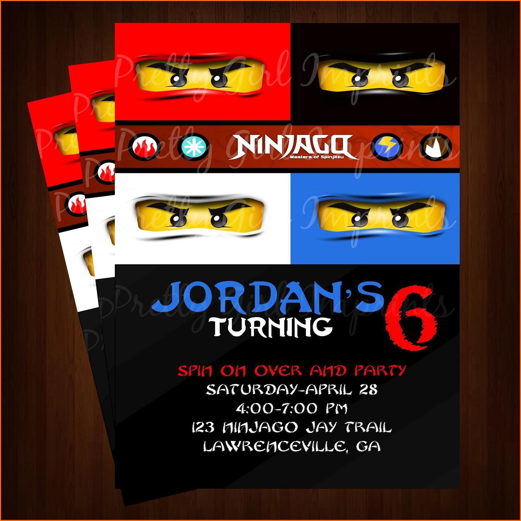 Lego Ninjago Birthday Invitations Free