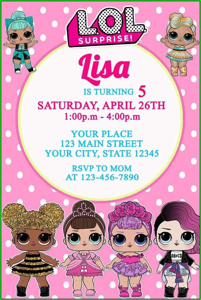 Lol Doll Invitations Printable
