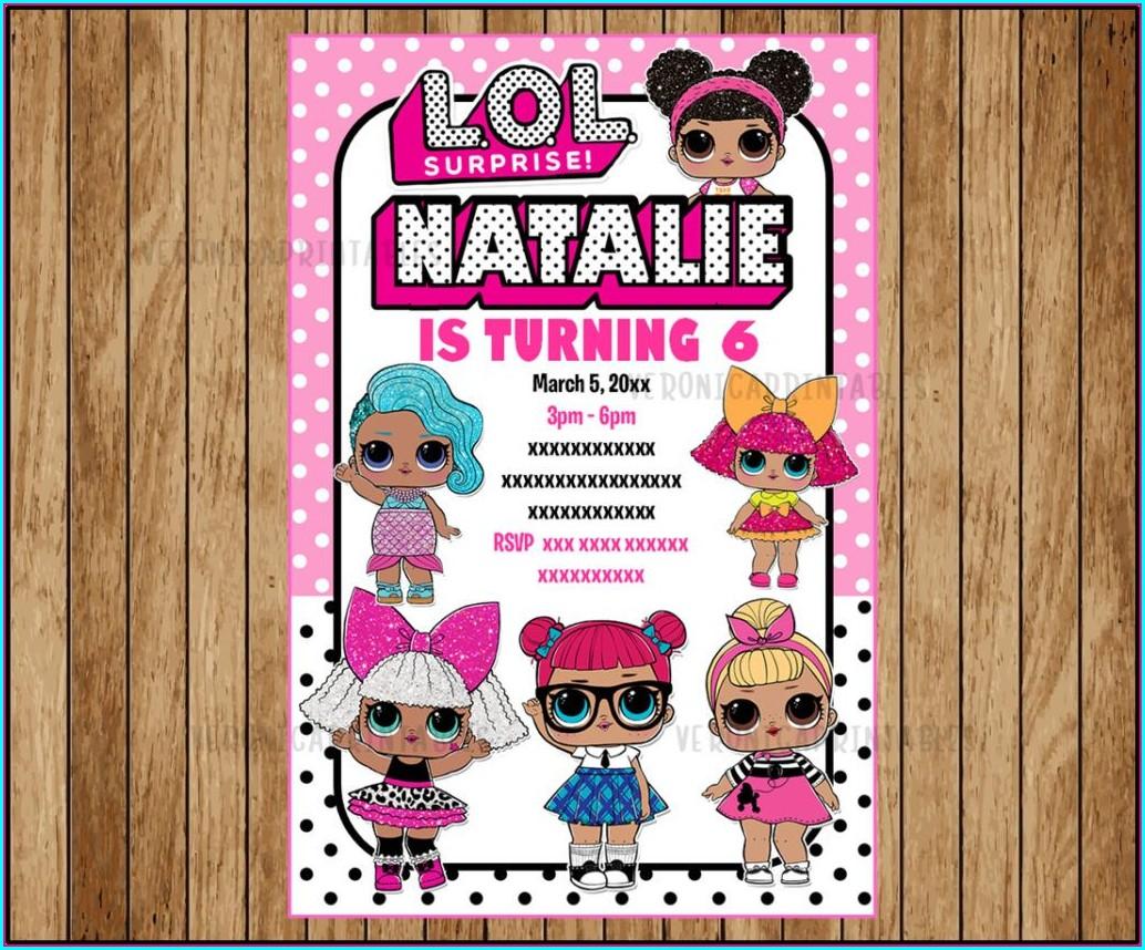 Lol Surprise Dolls Birthday Invitations