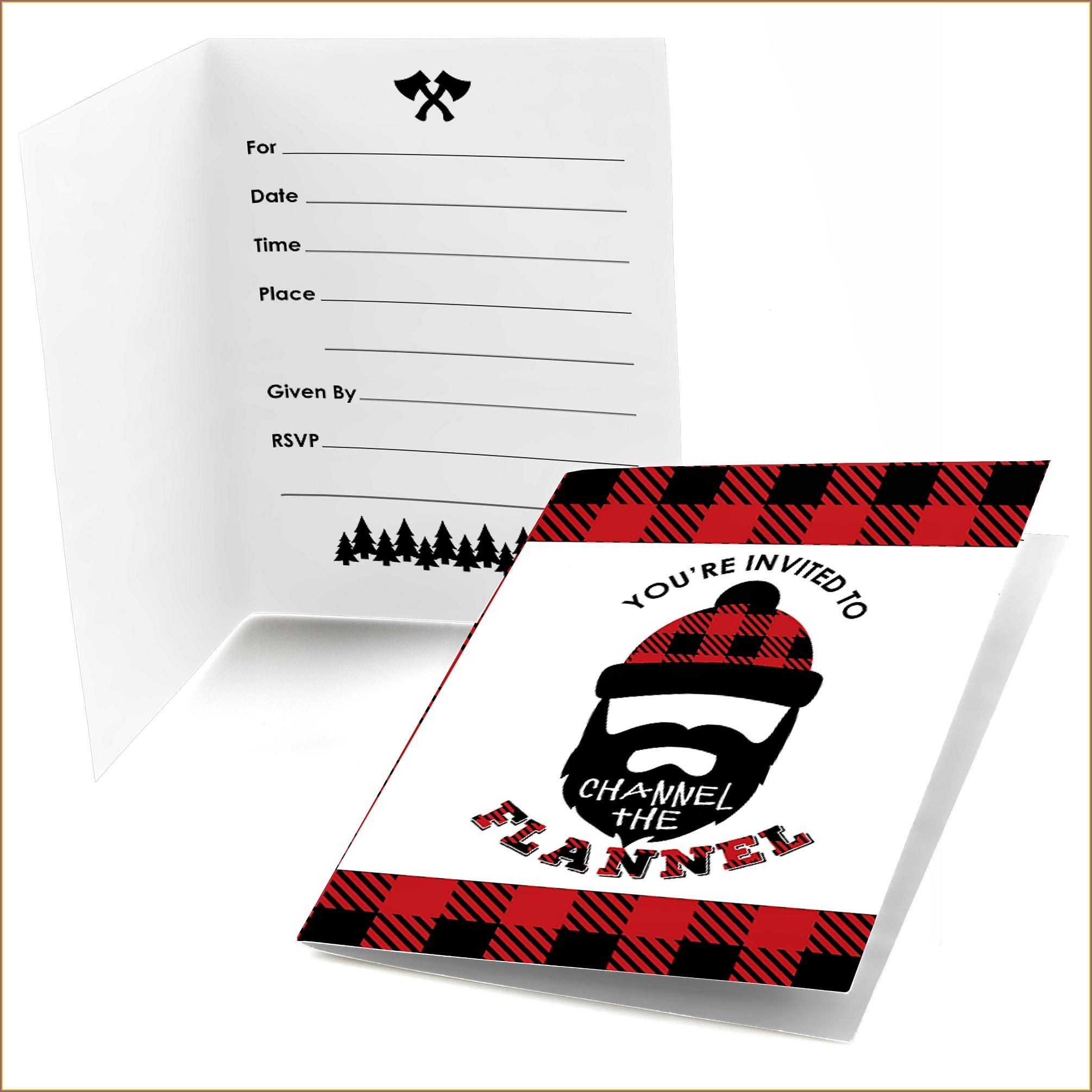 Lumberjack Birthday Invitations Walmart