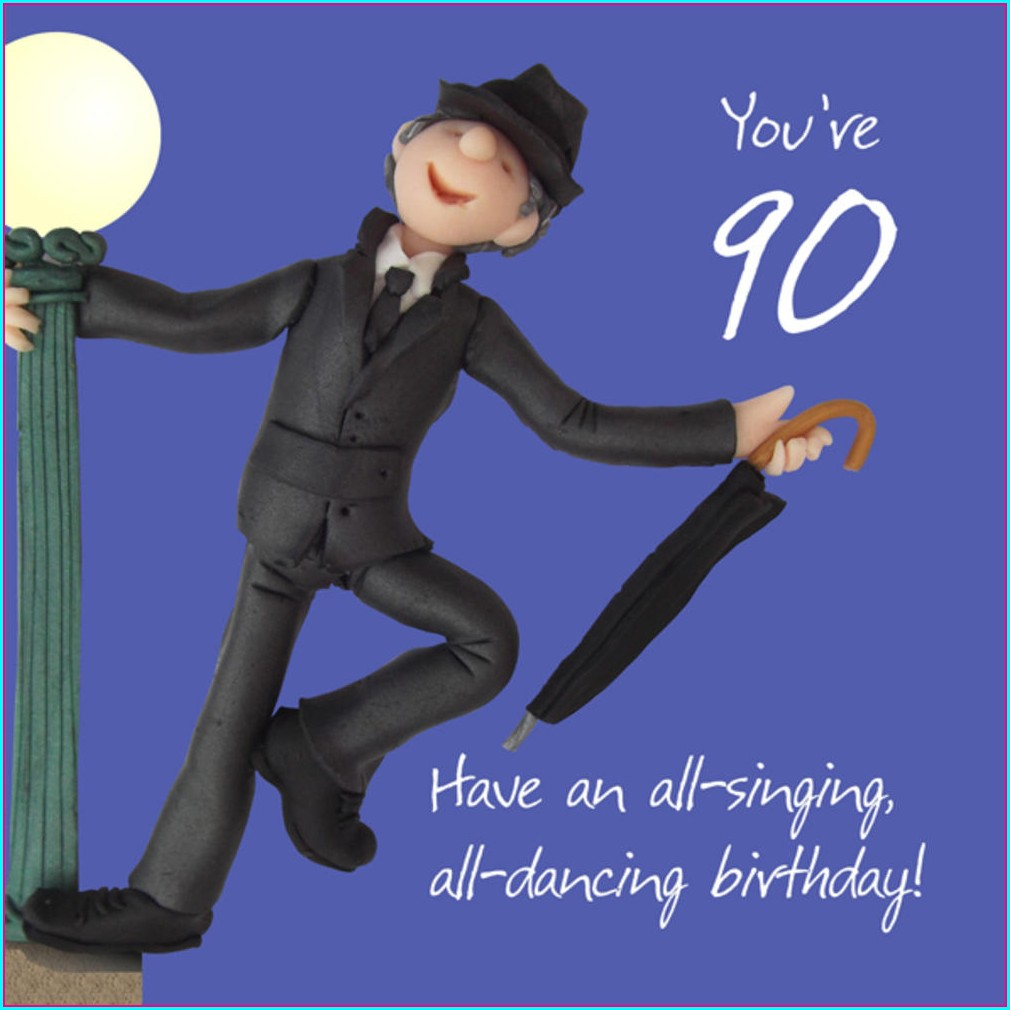 Male 90th Birthday Invitations