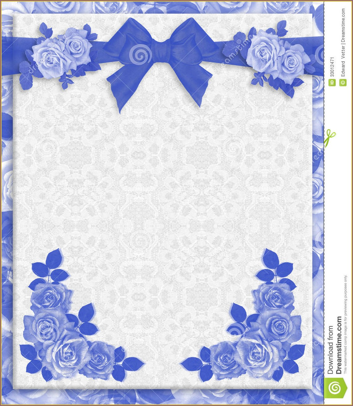 Marriage Border Royal Blue Wedding Invitation Background