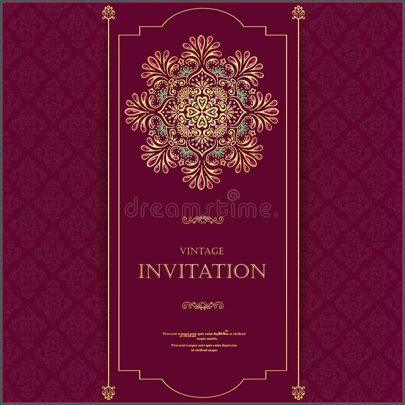 Marriage Invitation Template India