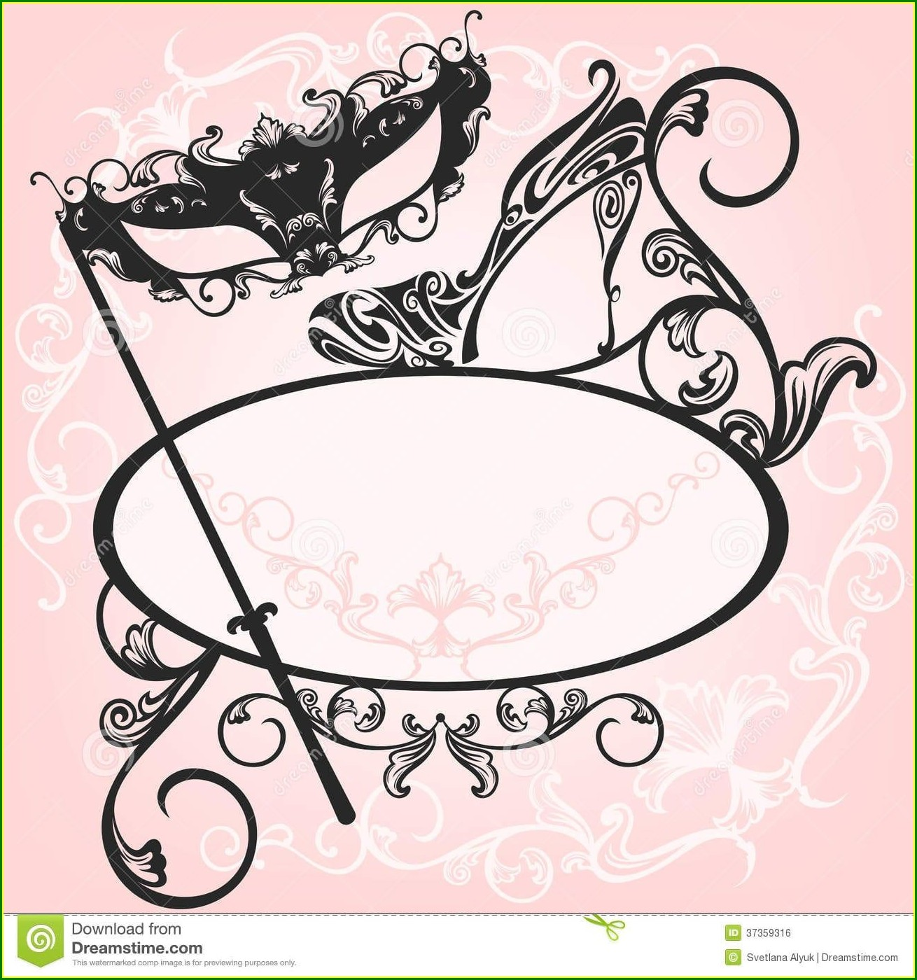 Masquerade Invitations Blank Template