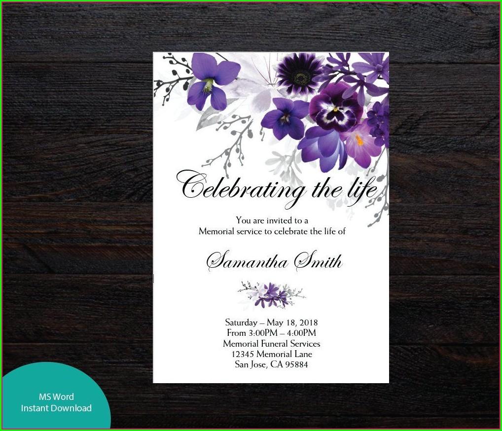Memorial Invitation Template Free Download
