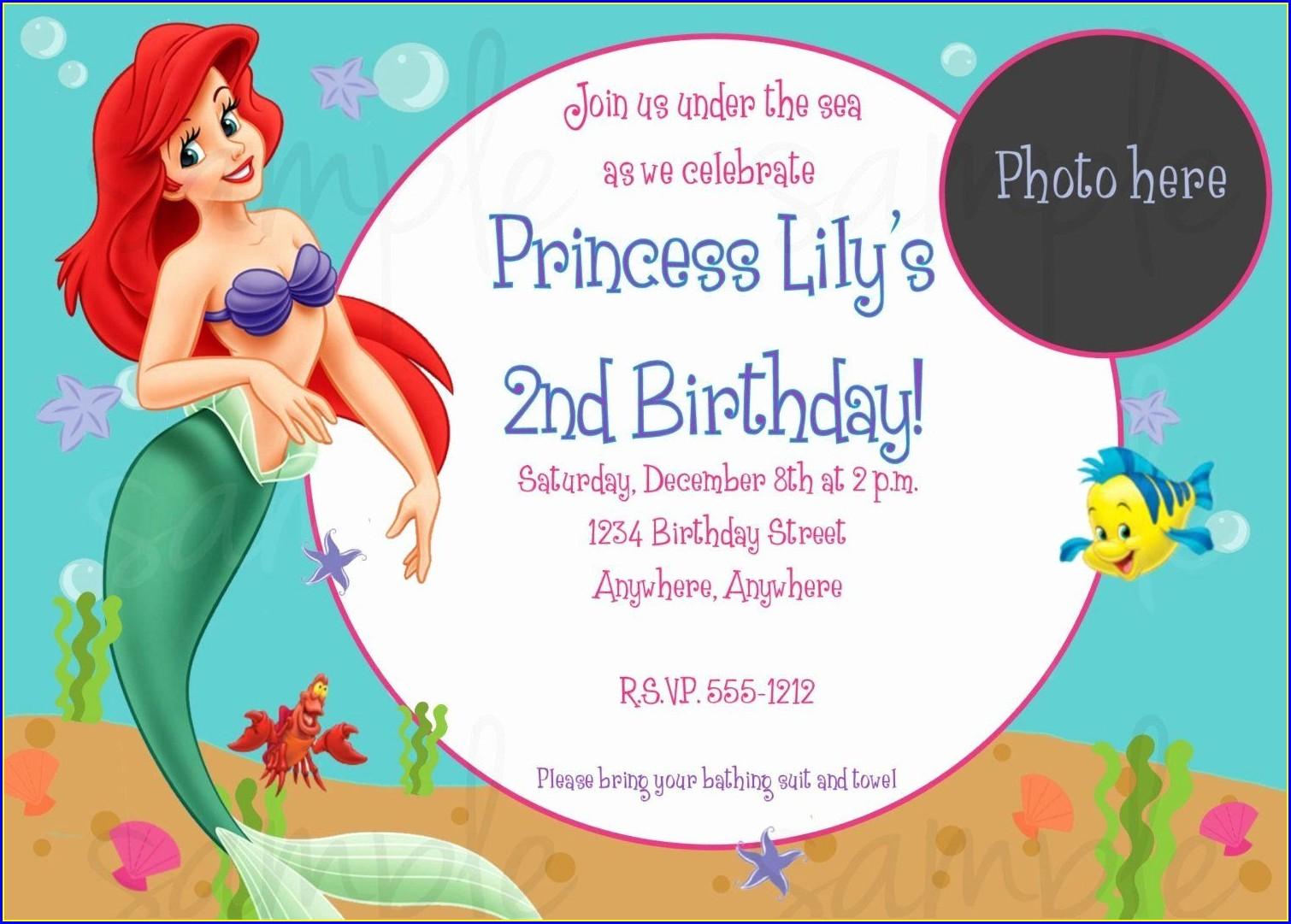 Mermaid Birthday Invitations Free Printables