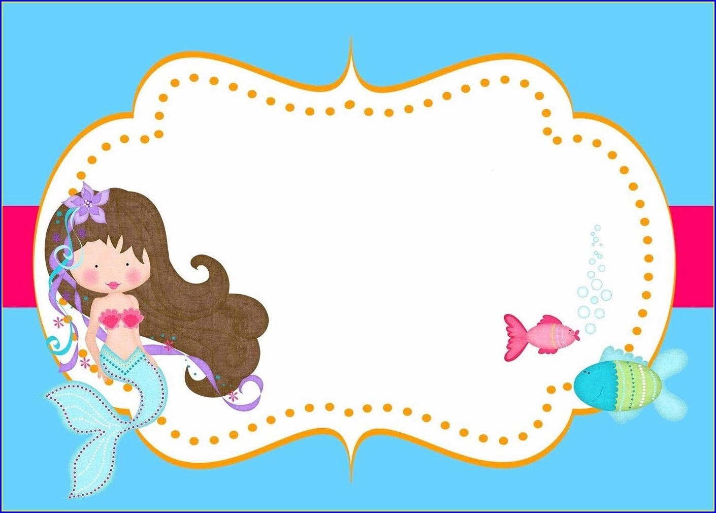 Mermaid Invitations Template Free