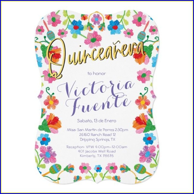 Mexican Quinceanera Invitations In Spanish