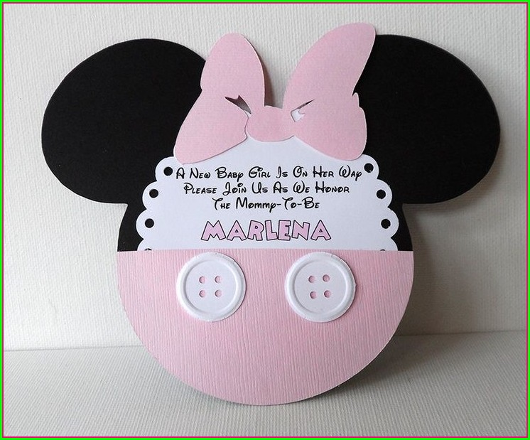 Mickey And Minnie Baby Shower Invitations