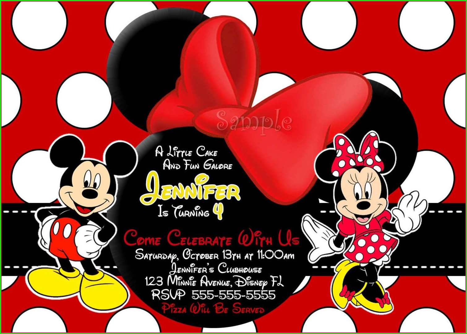 Mickey And Minnie Mouse Invitations Free