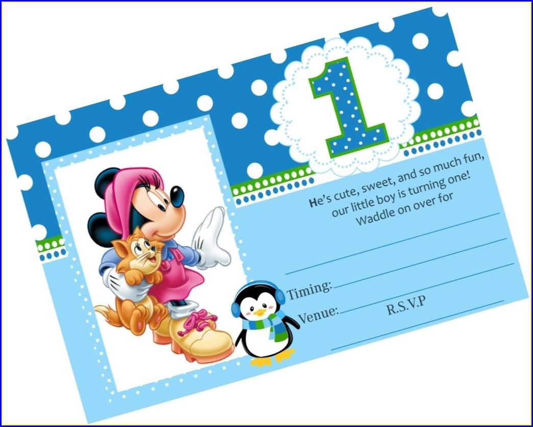 Mickey Birthday Invitation Card