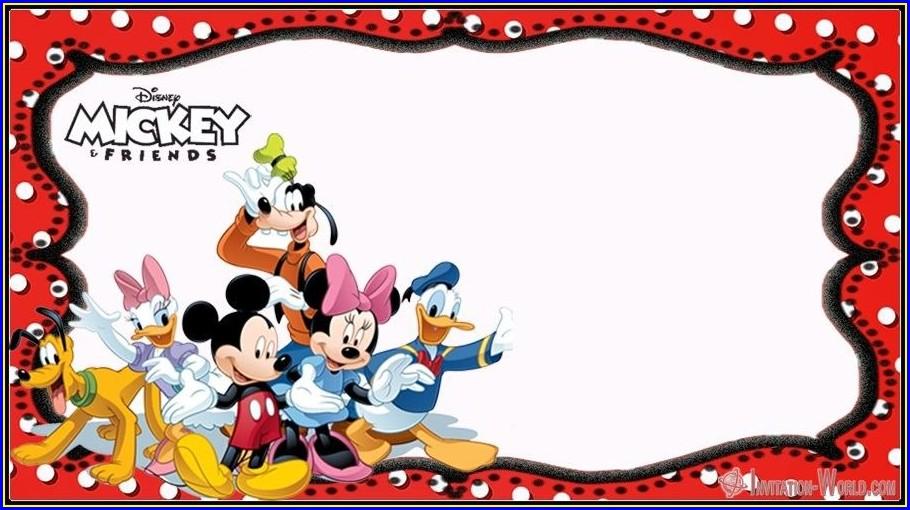 Mickey Birthday Invitation Templates