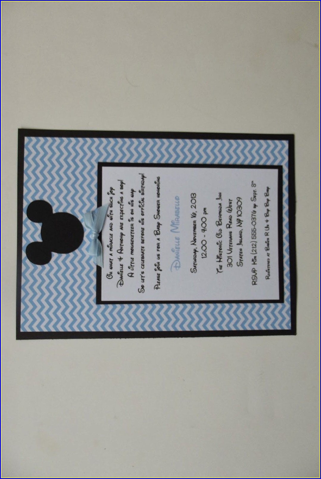 Mickey Mouse Baby Shower Invitations Templates
