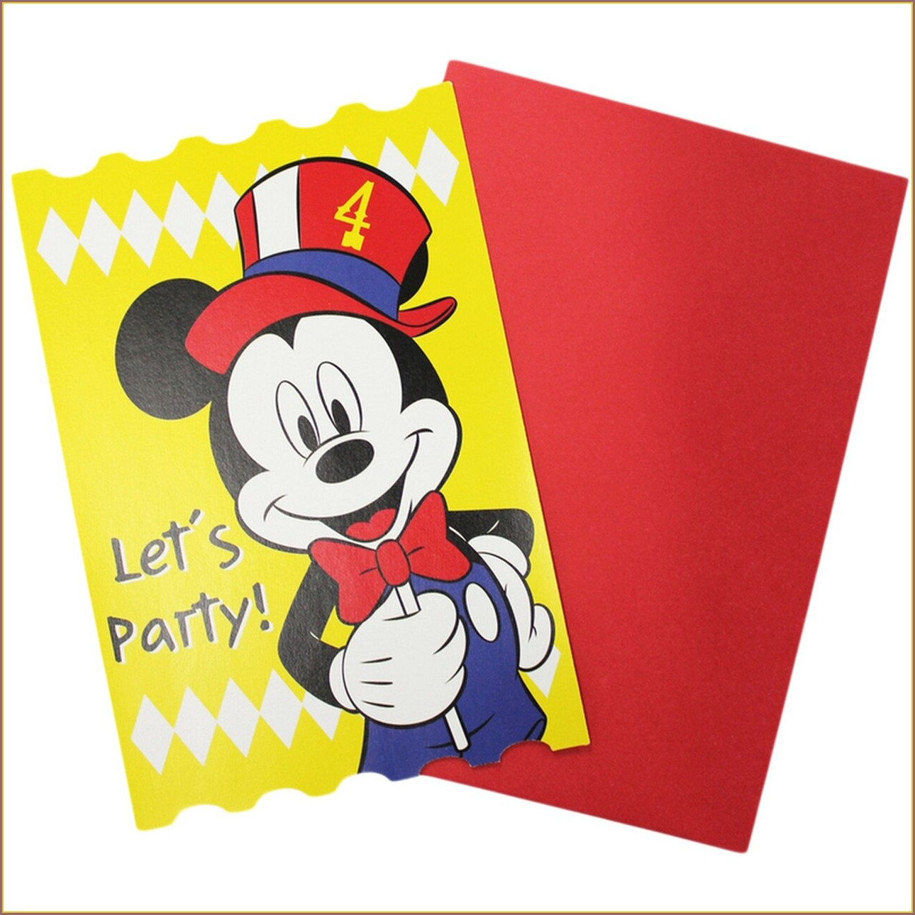 Mickey Mouse Carnival Invitations