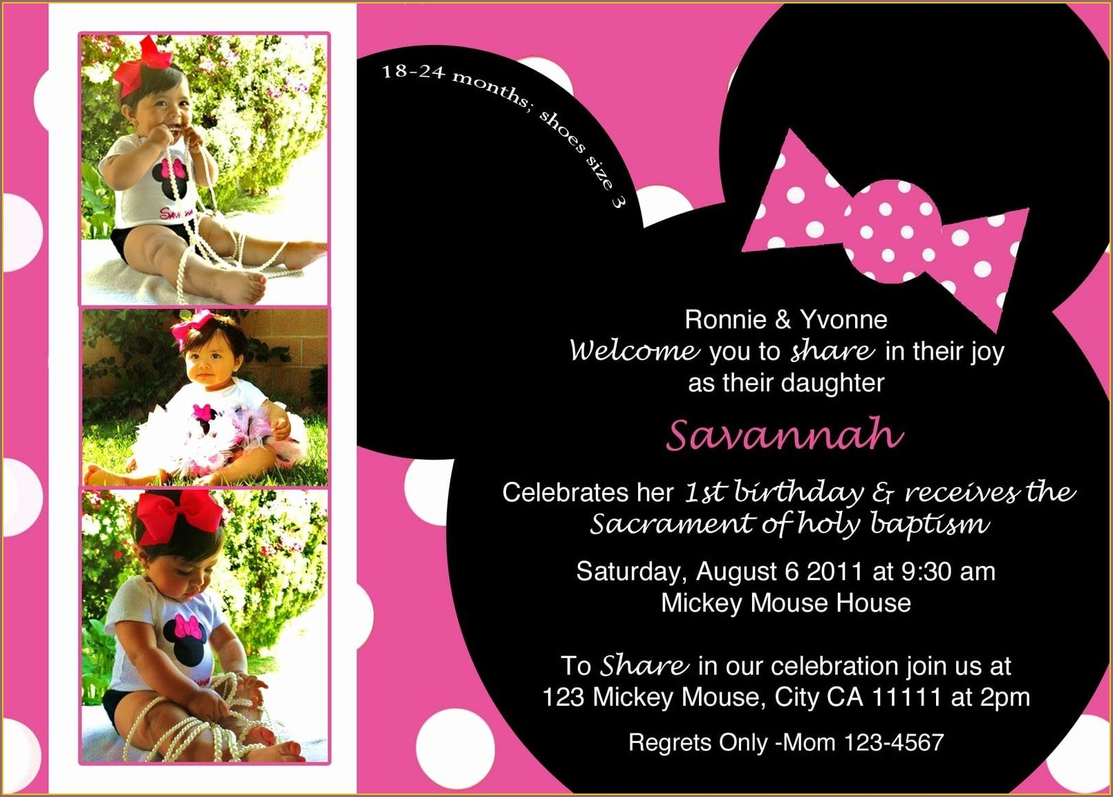 Mickey Mouse Evite Invitations