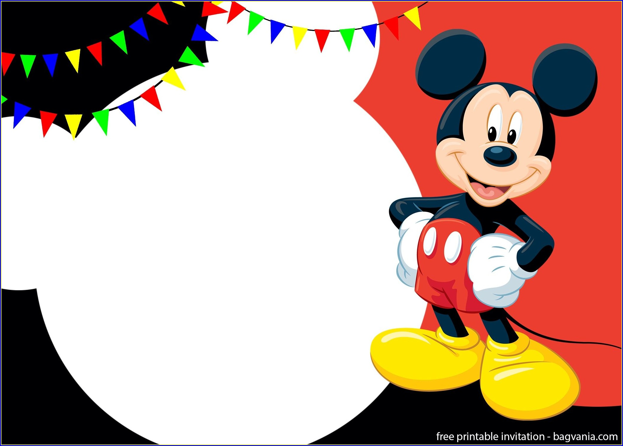 Mickey Mouse Invitations Template Free