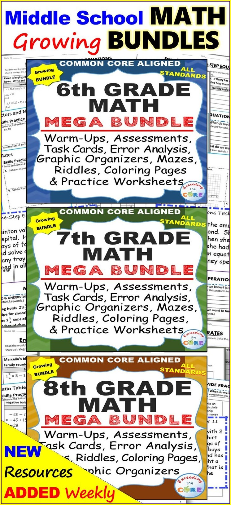 Middle School 7th Grade Reading Worksheets