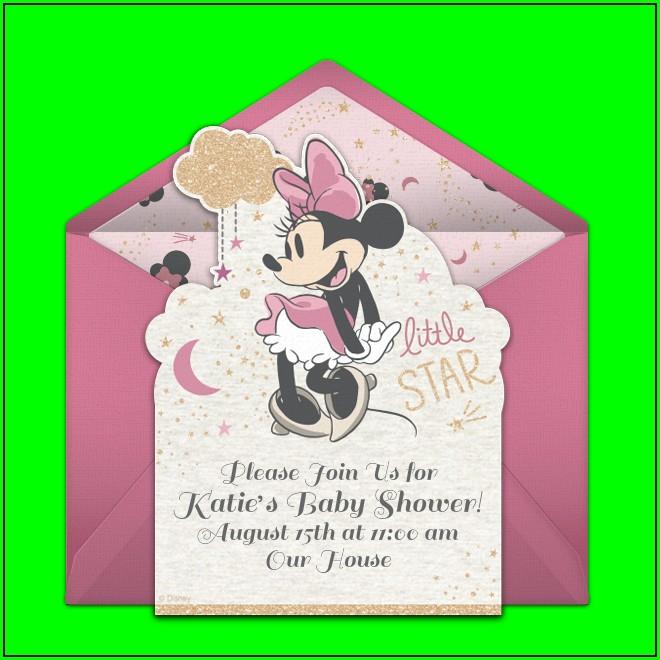 Minnie Mouse Evite Invitations