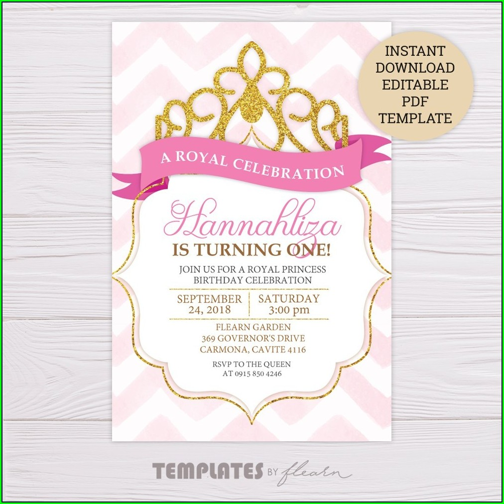 Minnie Mouse Invitation Template Pink And Gold
