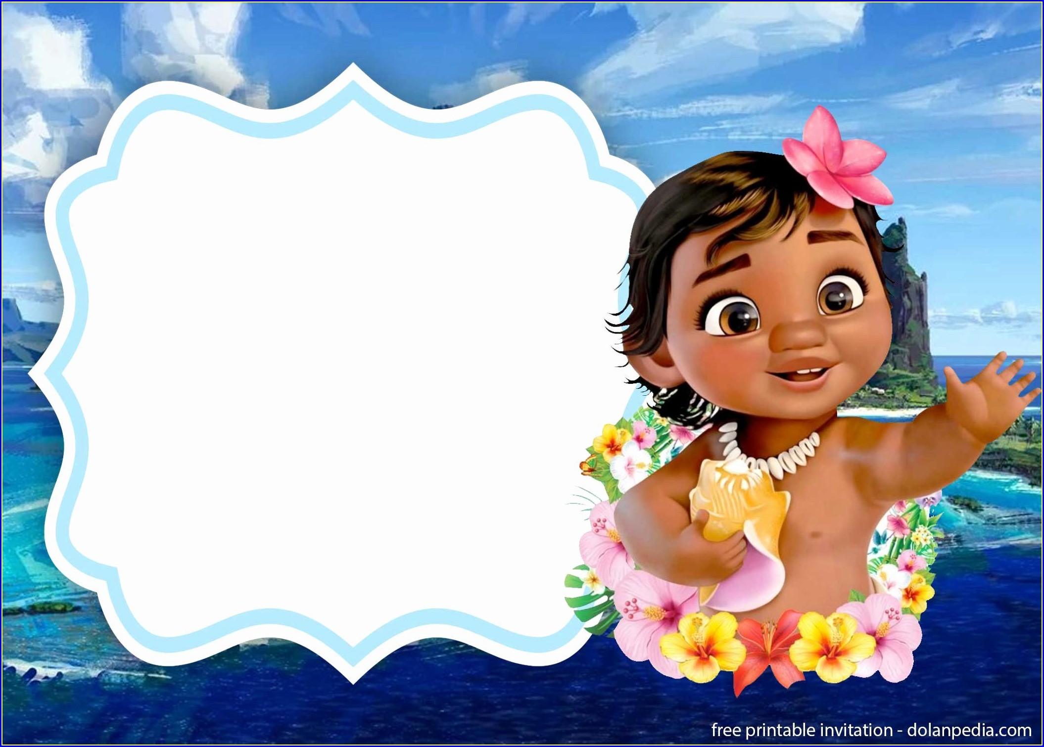 Moana Invitation Template Printable