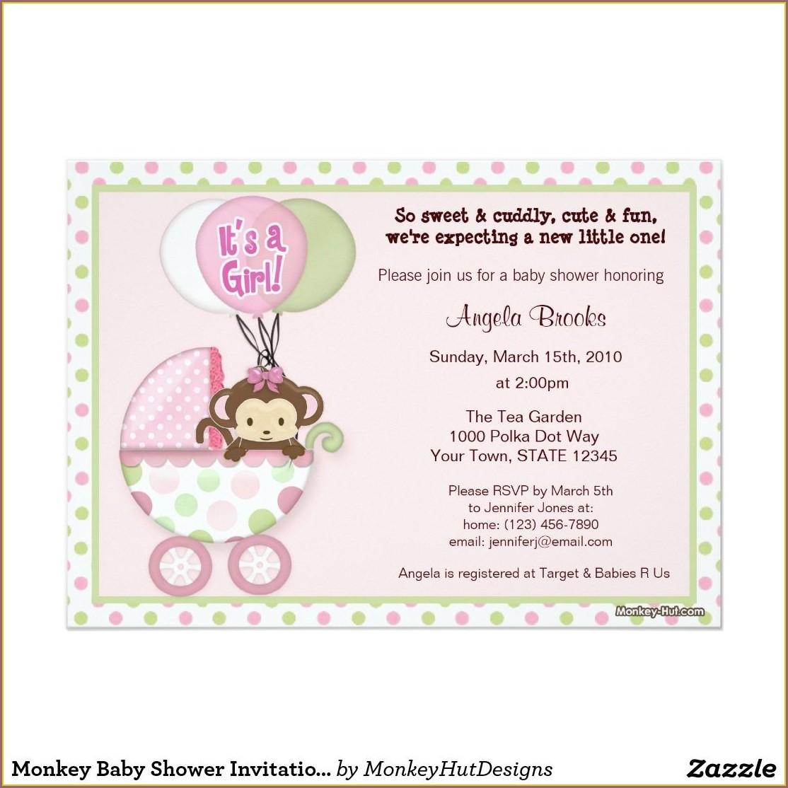 Monkey Hut Designs Invitations