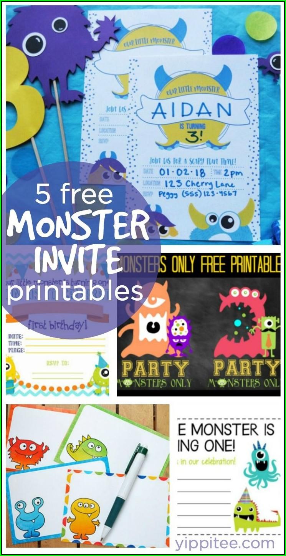 Monster Birthday Invitations Free