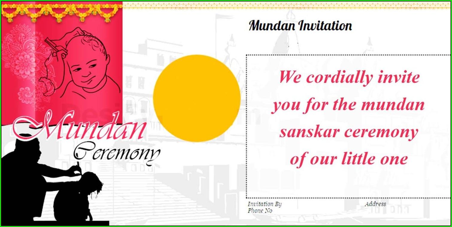 Mundan Ceremony Invitation Card Free Download