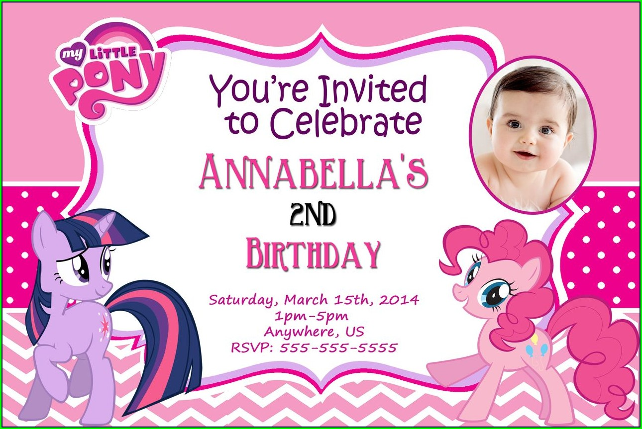 My Little Pony Birthday Invitations Personalized Free