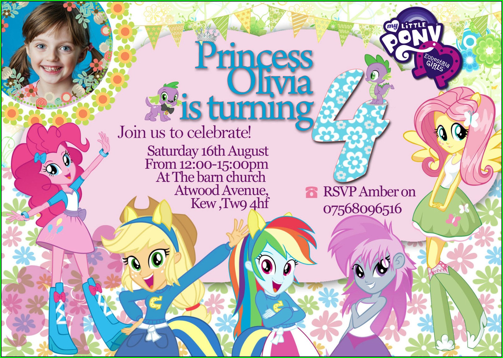 My Little Pony Birthday Invitations Personalized