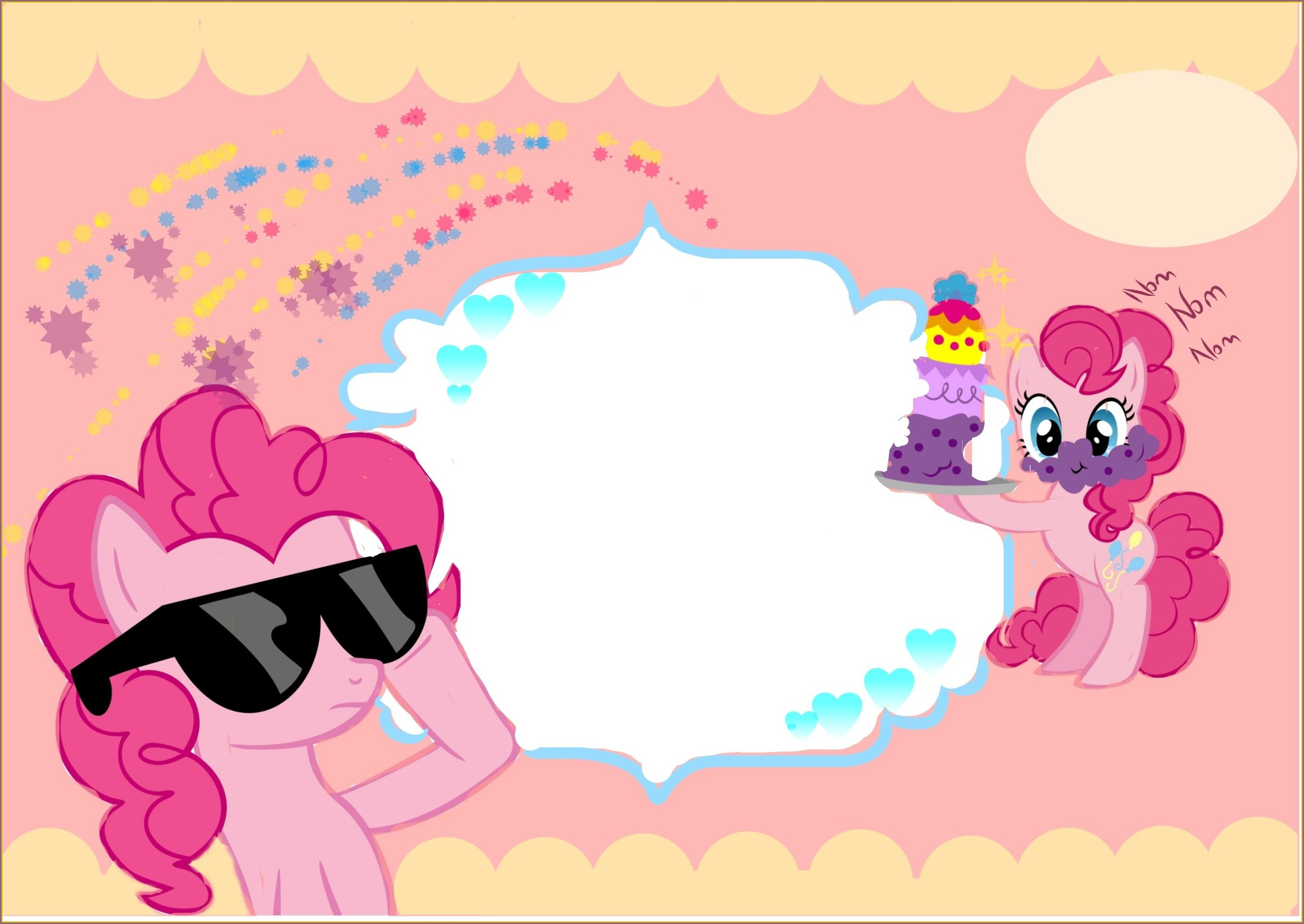 My Little Pony Invitation Card Template